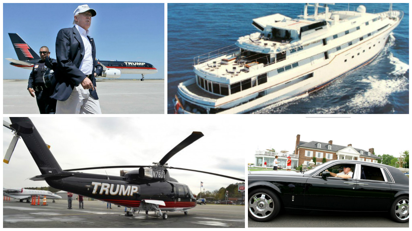how many cars boats and planes does donald trump own here 39 s the top 12. Black Bedroom Furniture Sets. Home Design Ideas