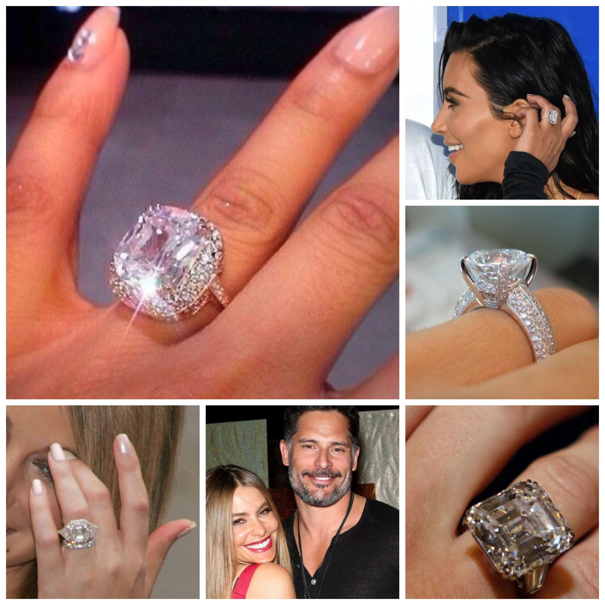 The best celebrity engagement ringse bigger the better picmonkey collage junglespirit