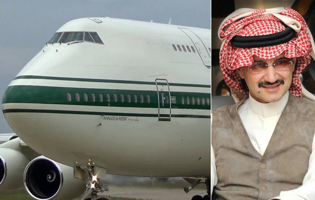 Saudi Prince Al Waleed Bin Talal Al Saud private jet