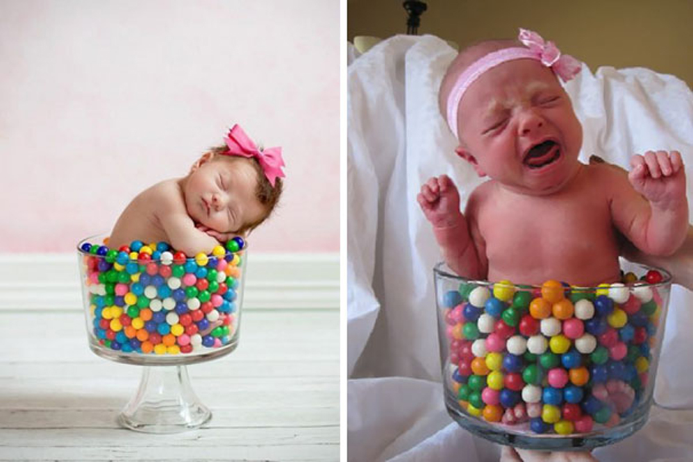 baby gumballs fail photoshoot