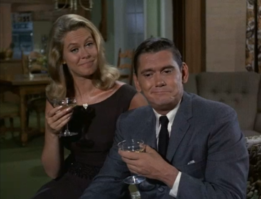 bewitched drinking on set