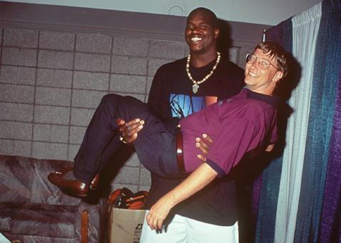 shaquille o'neal and bill gates