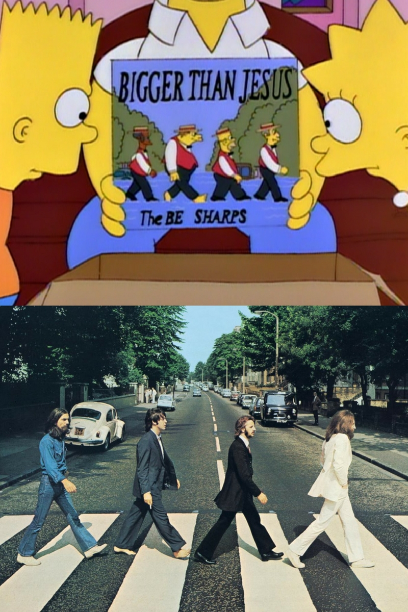 abbey road the simpsons