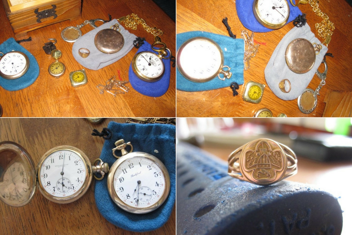 antique pocket watches trap door