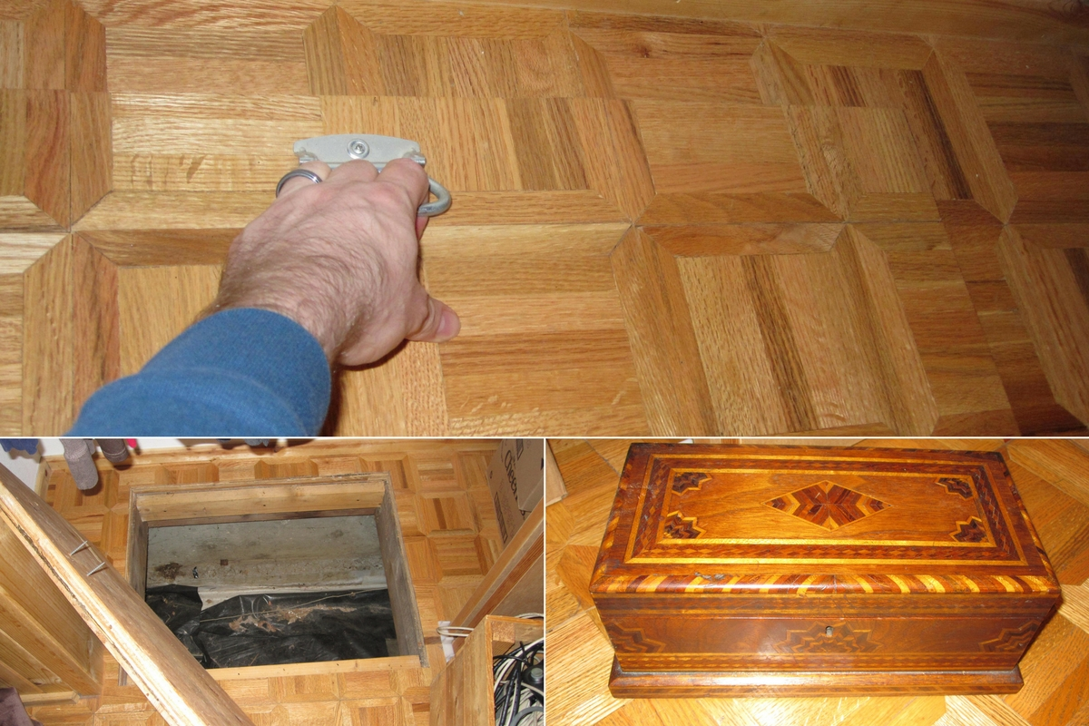 secret trap door in house