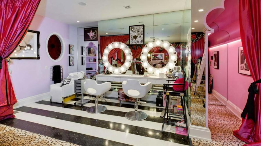 Award Winning Singer Christina Aguilera Has Two Giant, Crazy Awesome Closets,  All Designed To Match Her Wild And Flirty Personality.