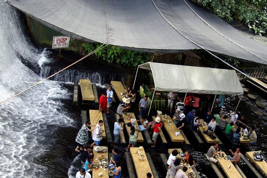 Waterfall Restaurant in Philippines