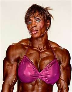 Female body builders are definitely proofs that not only men can grow muscles and use steroids.