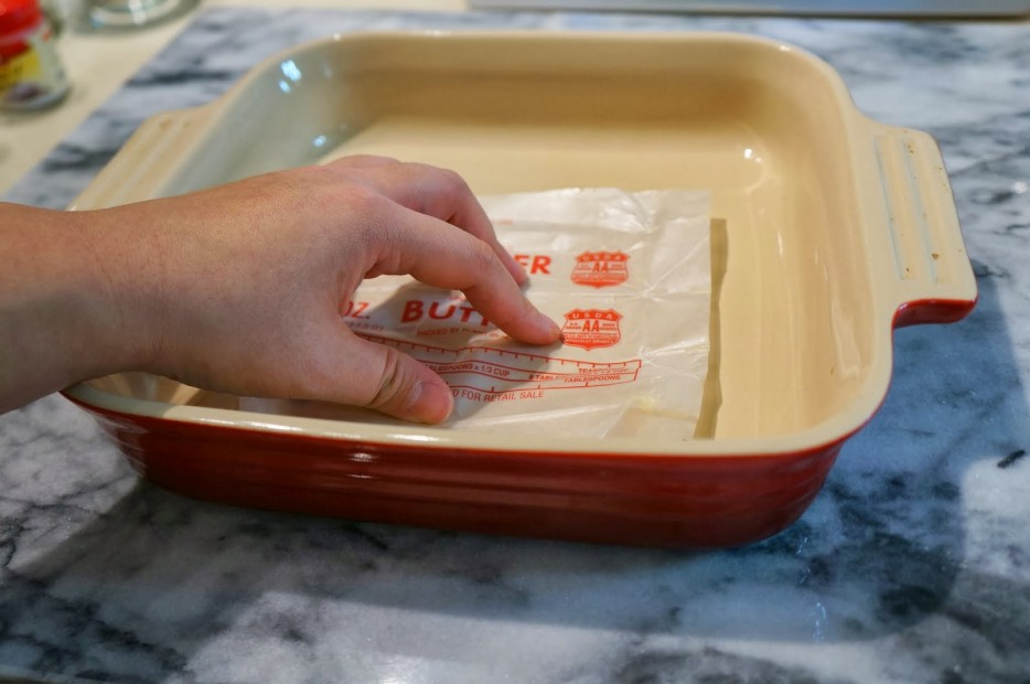 Greasing Pans with Butter Wrappers