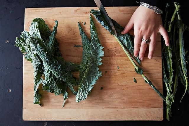 Saving Kale Stems