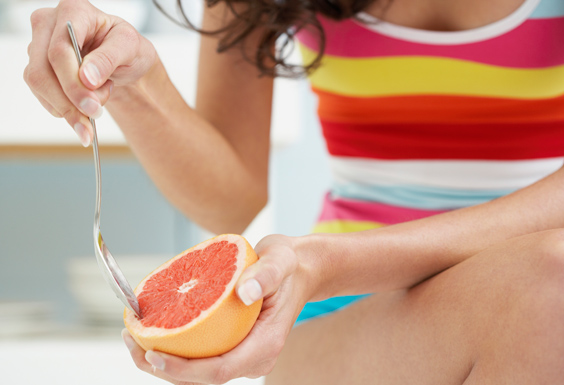 Start your day right by eating citrus fruits such as grapefruits and oranges.