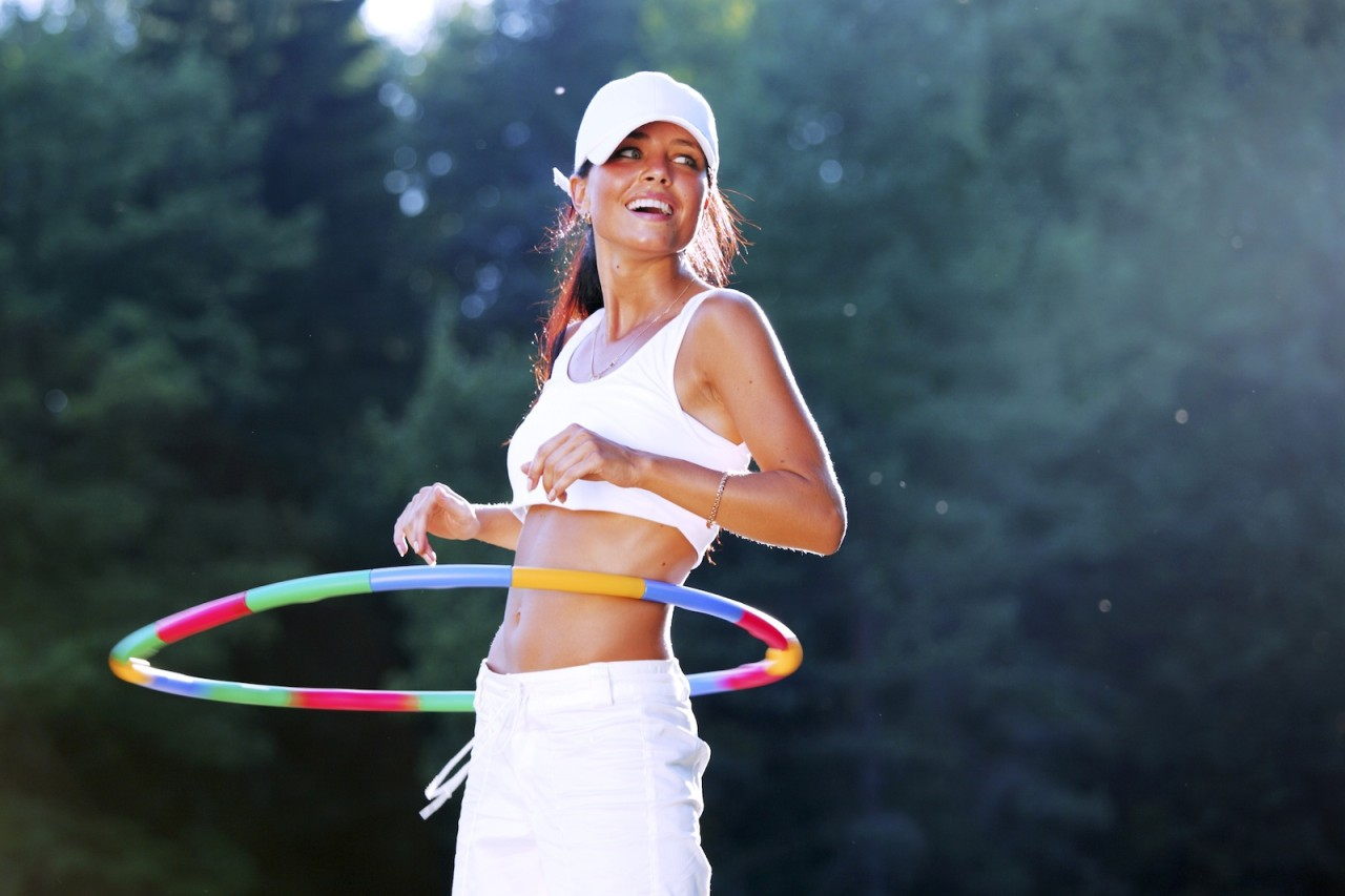 Hula-hoops are a fun way to slim down your belly and get into shape.