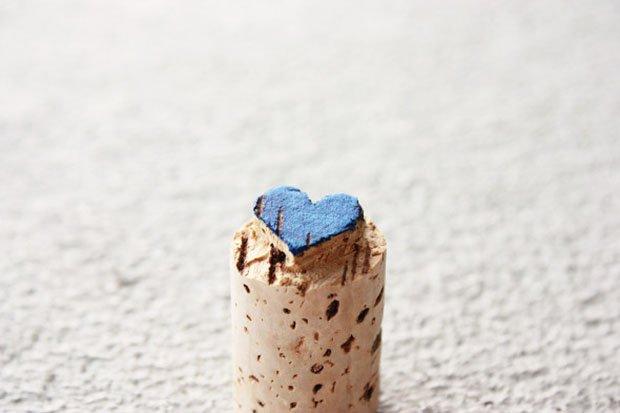 Wine Cork Heart Stamp