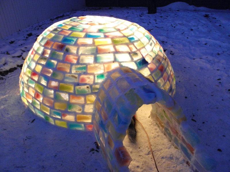 colored ice igloo