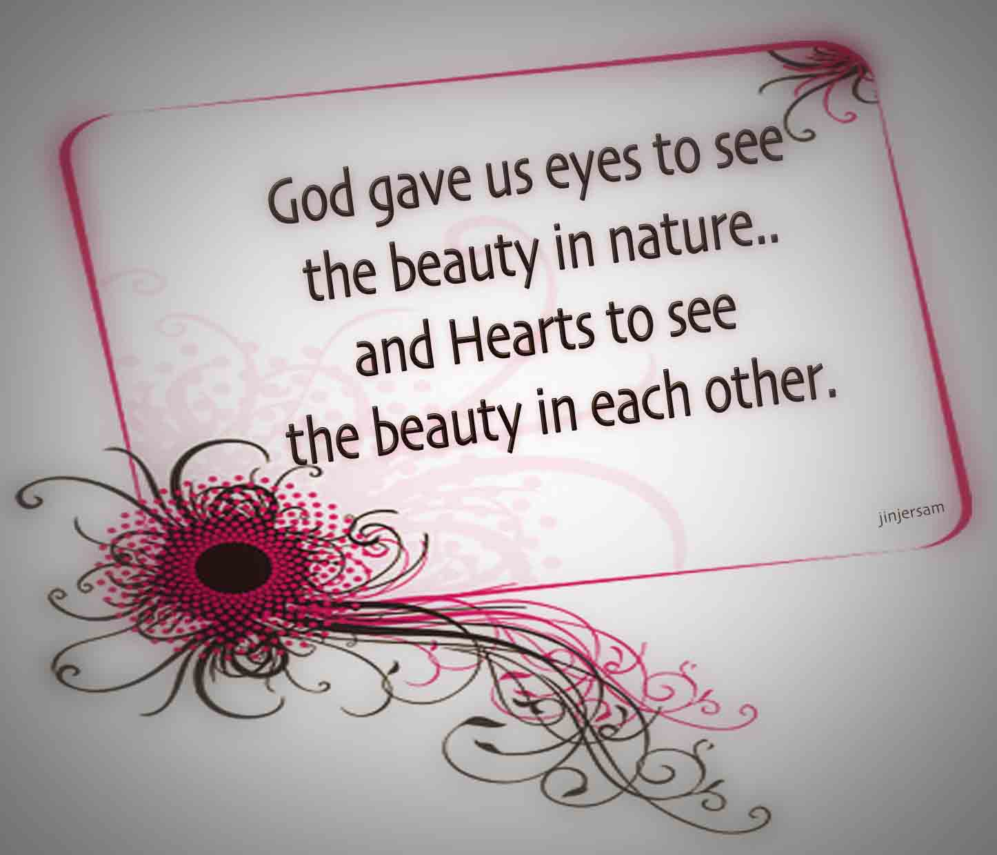 Beauty begets beauty march to 50 beauty quotes 1 see the beauty in each other izmirmasajfo