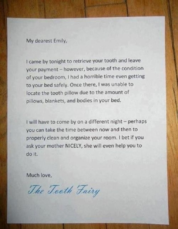 This parent who teamed up with the tooth fairy to get what they wanted.