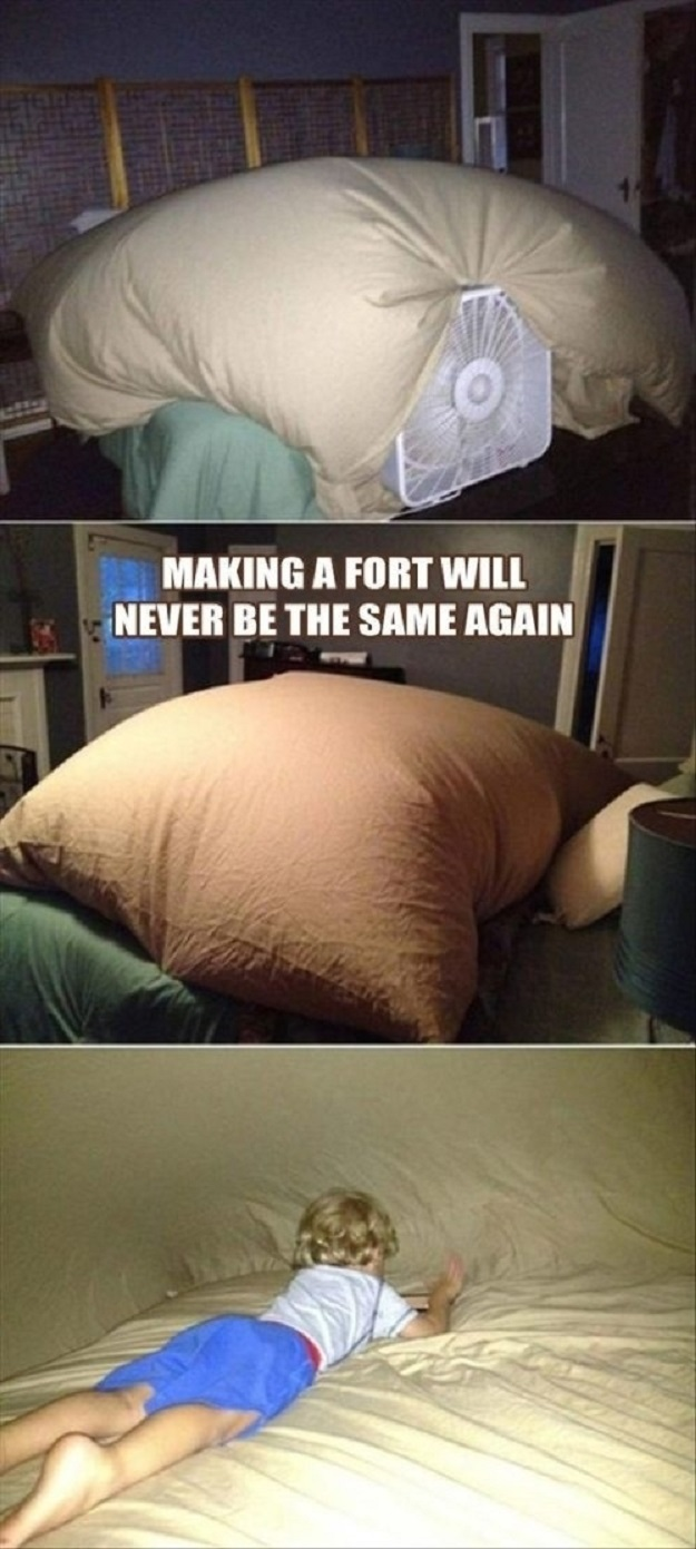 The parent who brought blanket forts to a whole new level.