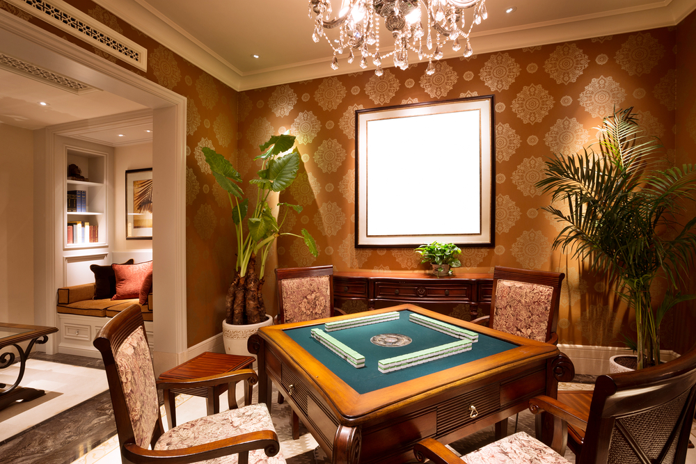 For the avid card player, this is a great room.  A card table is a perfect component to any man cave.