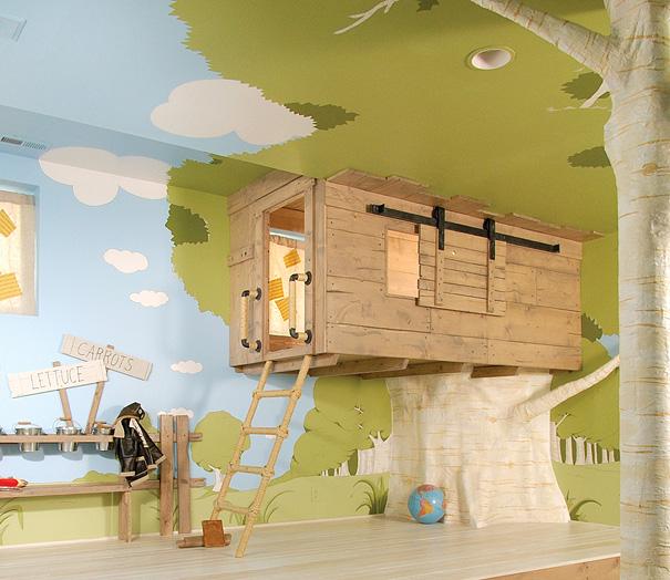 Tree House Room for Kids