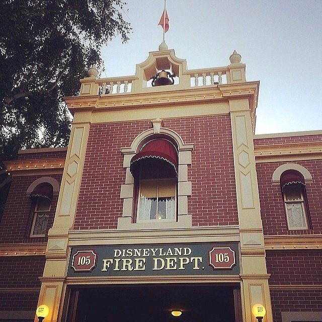 There's a secret apartment hidden in Disneyland's fire station.