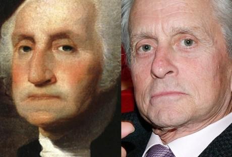 George Washington and Michael Douglas.
