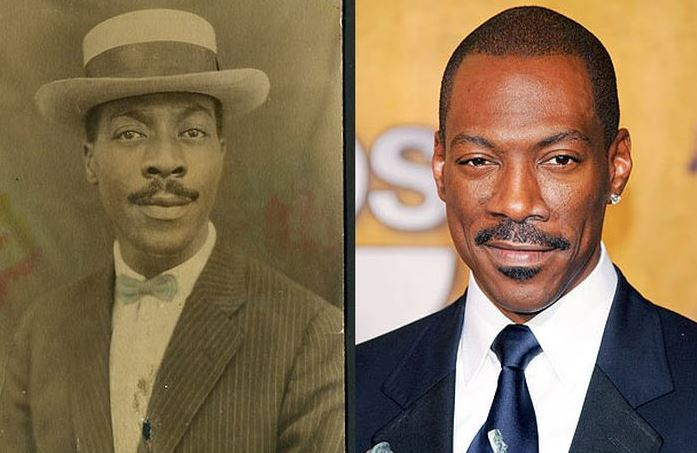 We're unsure whether the man on the left is actually related to Eddie Murphy.