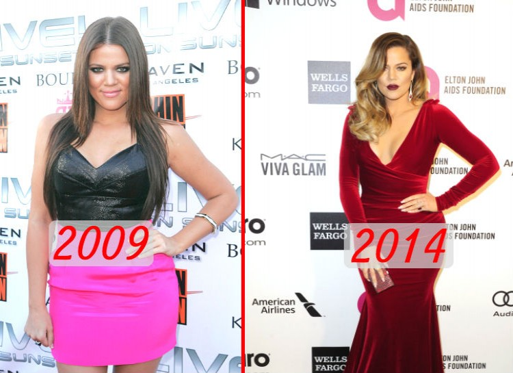 """Here's one more Kardashian who looks a lot different today then she did 5 years ago. Khloe made it very clear how the public focus on her weight saddened her back in the early days of """"Keeping Up With the Kardashians."""" Now, Khloe talks about how she's addicted to working out, and loves her new body."""