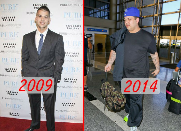 """Bruce isn't the only member of the Kardashian clan who looks a lot different than he did 5 years ago. The only Kardashian son, Rob, was actually toying with the idea of becoming a model in 2009, but was then plagued with years of weight issues. Chronicled on """"Keeping Up With the Kardashians,"""" Rob has tried but sadly failed to get back to the weight he once was."""