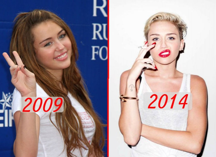 """In 2009, Cyrus had reached the height of her career on the Disney show """"Hannah Montana."""" One year later, the show came to an end, and Cyrus released a more adult album """"Can't Be Tamed."""" More recently, Cyrus has chopped off and bleached her hair, changed her music to have a more hip hop vibe, and spoken publicly about her marijuana use."""