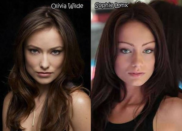 Olivia Wilde and Sophie Lynx - Celebrity Twinnies