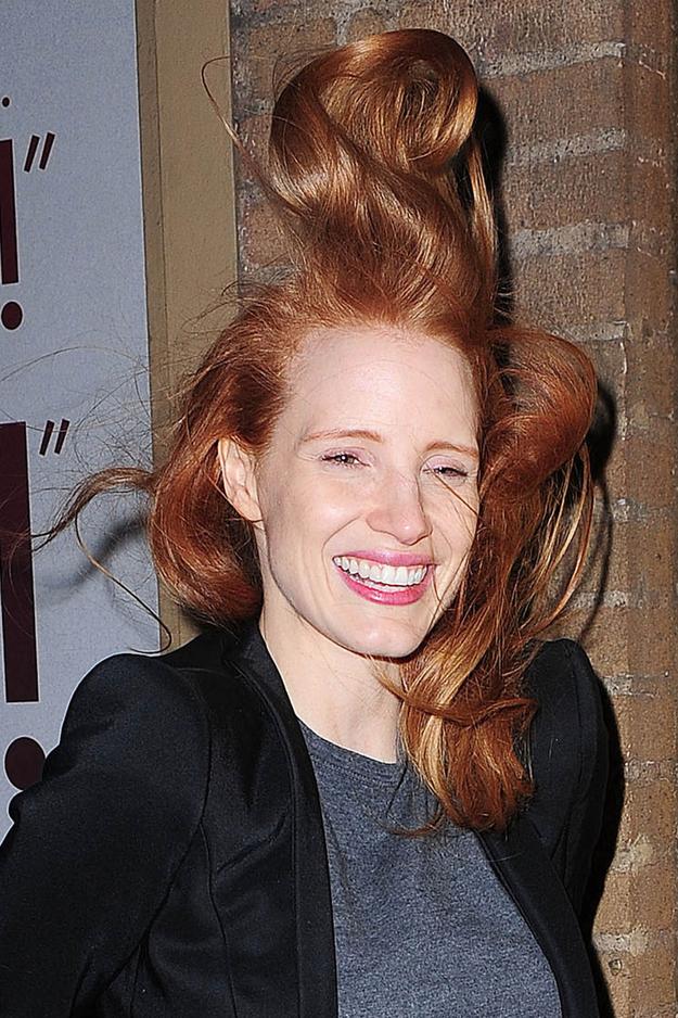 jessica chastain's hair