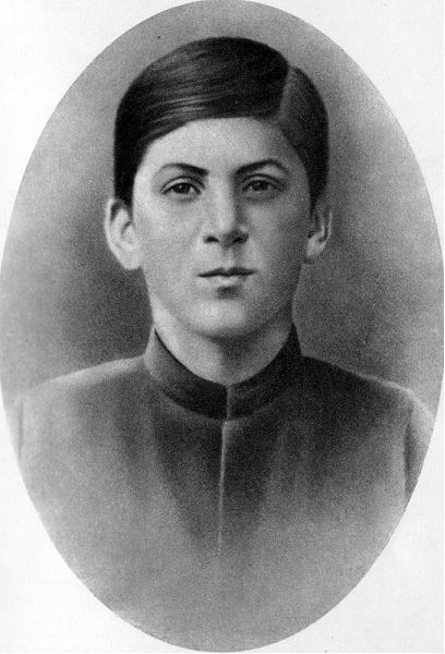 A young Joseph Stalin looking just a little smug, but full of promise.