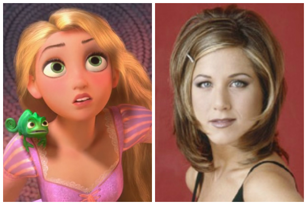 Rapunzel and Jennifer Aniston