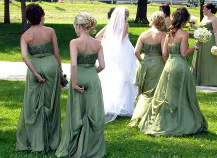 The bridesmaid butt grab