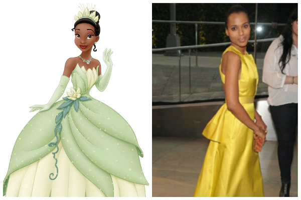 Tiana and Kerry Washington