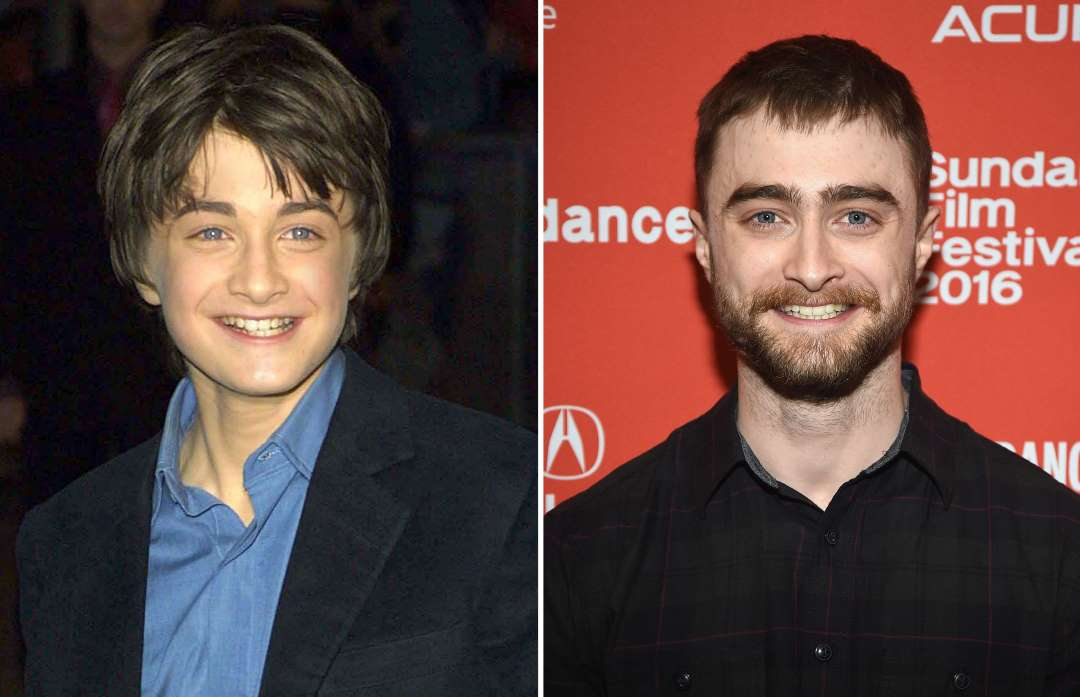 daniel radcliffe 2001 and 2016