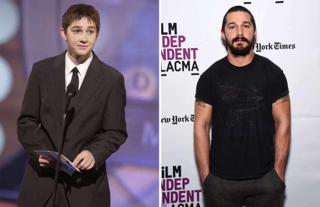 shia labeouf 2003 and 2016