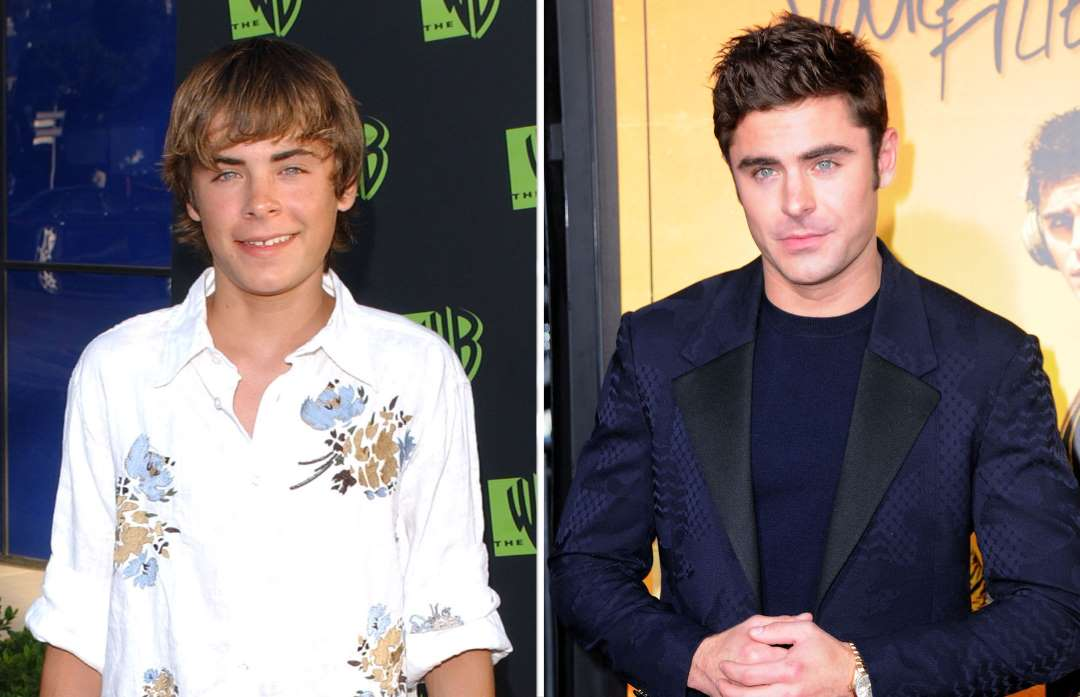 zac efron 2004 and 2015