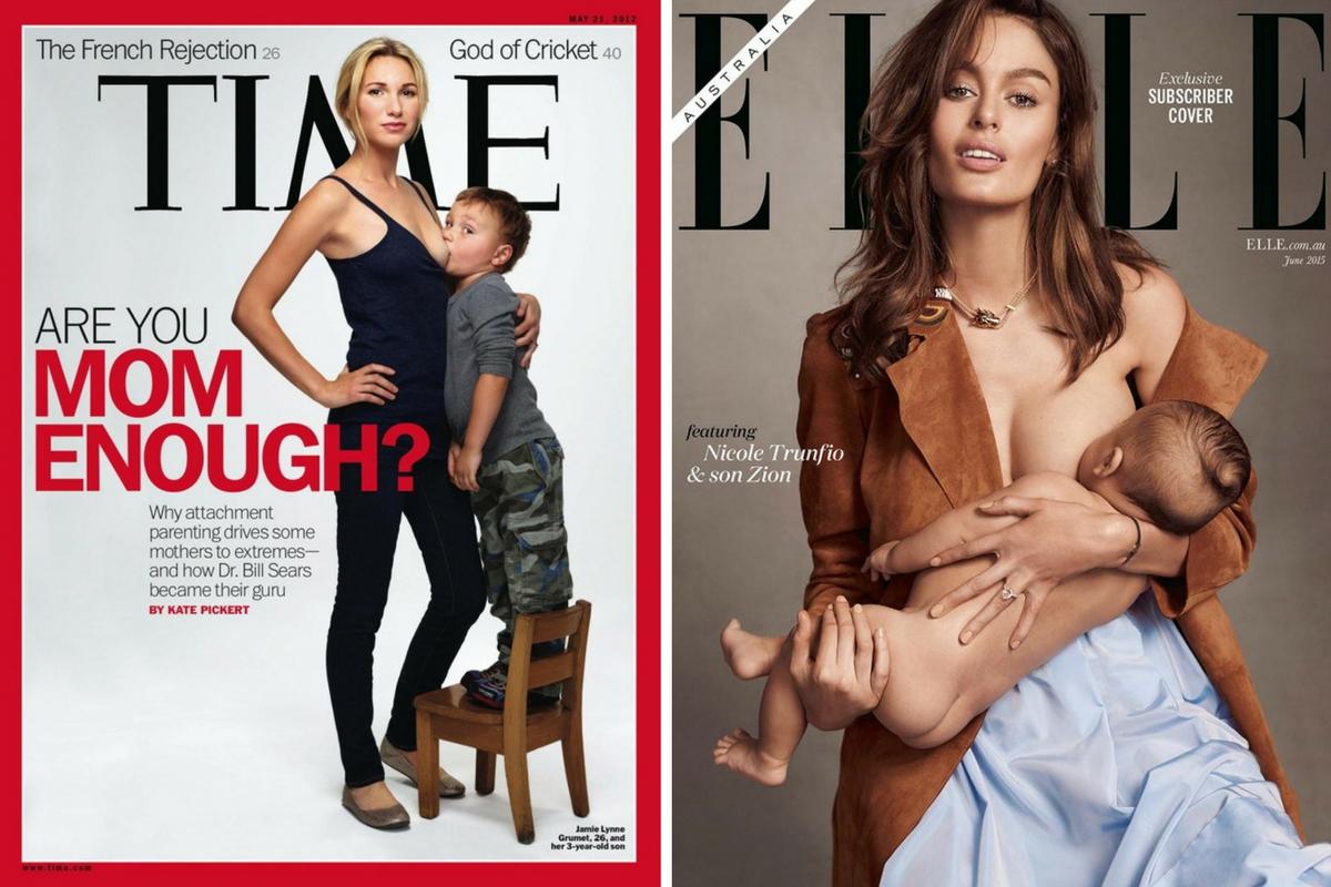 nursing in magazine cover