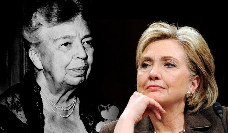 hillary talks to eleanor roosevelt