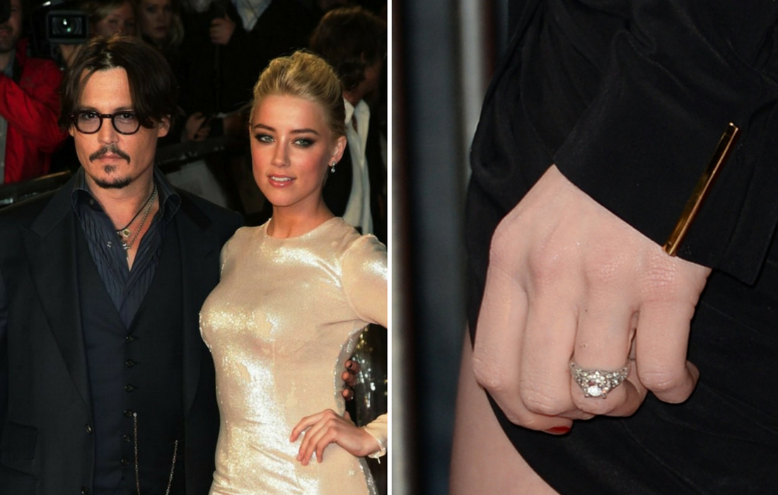 amber heard engagement ring