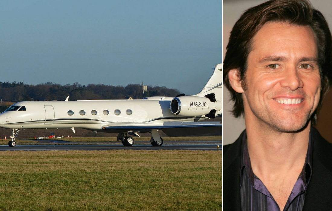 jim carry private jet