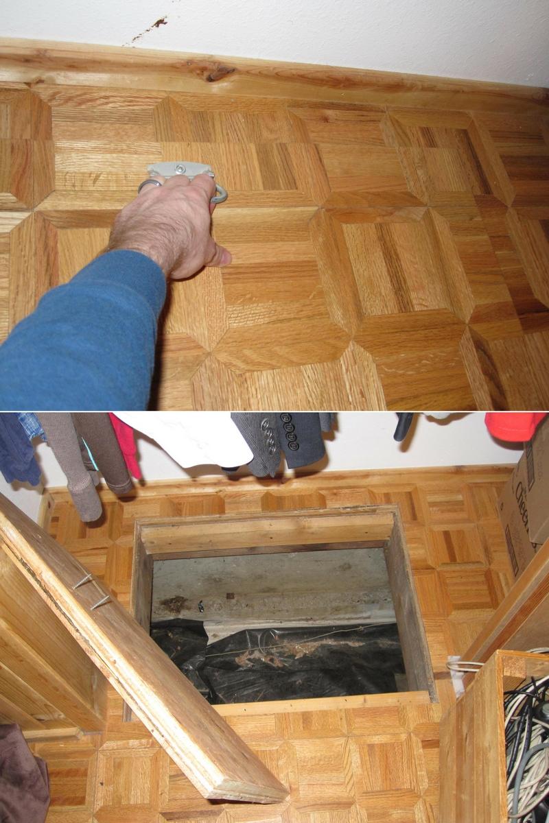 hidden trap door