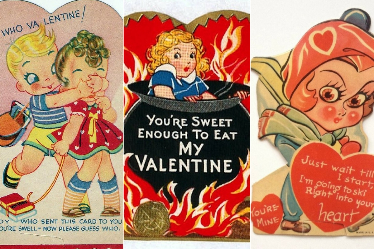 Weird And Creepy Vintage Valentine\u0027s Day Cards